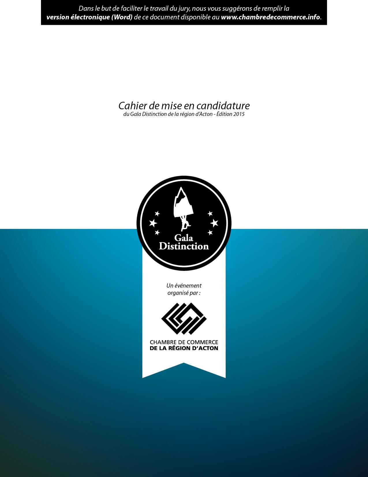 Gala distinction 2015 t l chargez le cahier de mise en for Assurance collective chambre de commerce