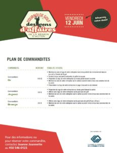 plan partenariat golf