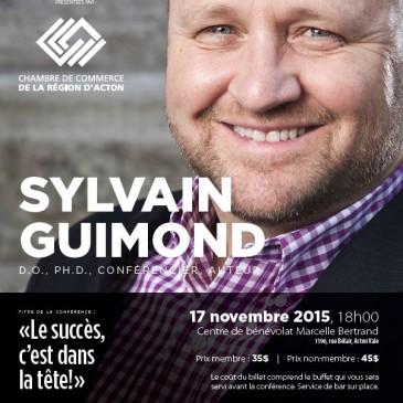 Grandes Conférences avec Sylvain Guimond D.O. PH. D