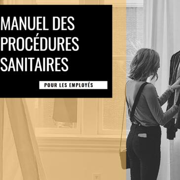 Manuel des procédures sanitaires pour les employés!