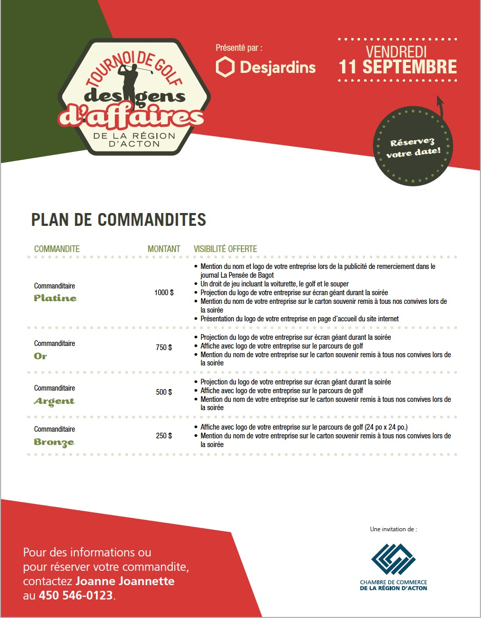 Plan de commandites